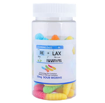 RE-LAX CBD Gummies – 10mg Sour Worms