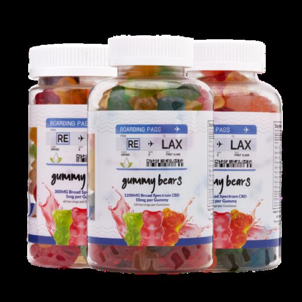 broad spectrum cbd gummy bears 300mg 800mg 1200mg