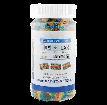 RE-LAX CBD Gummies – 10mg Rainbow Stripes