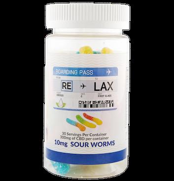 RE-LAX CBD Gummies – 10mg Sour Worms