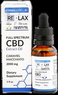 caramel macchiato cbd oil tincture 2000 mg relax cbd