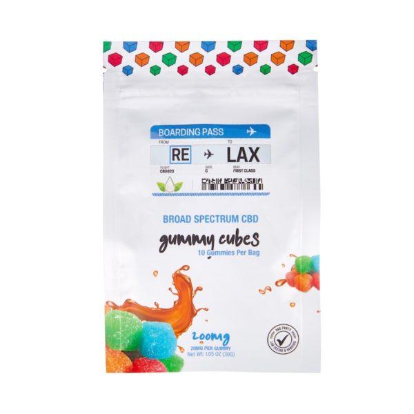 broad spectrum cbd gummy cubes bag