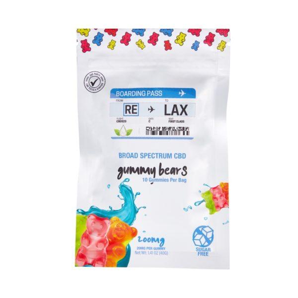 broad spectrum cbd sugar free gummy bears 10 piece bag